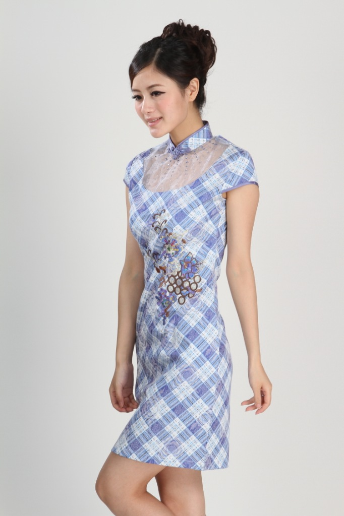 Čínské šaty cheongsam s hrozny empty 5eab278b17
